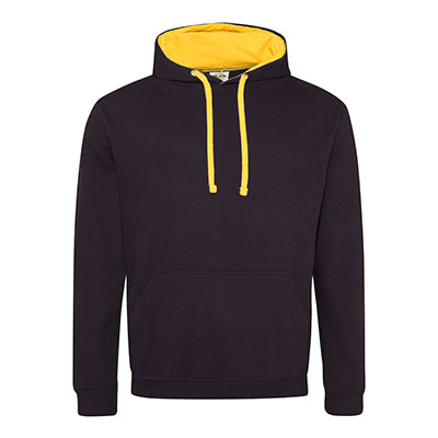 Varsity Contrast Hoodie - Jet Black / Gold - Equipment Zone Online Store