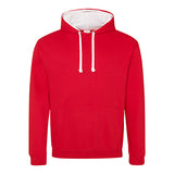 Varsity Contrast Hoodie - Fire Red / Arctic White - Equipment Zone Online Store