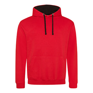 Varsity Contrast Hoodie - Fire Red / Jet Black - Equipment Zone Online Store