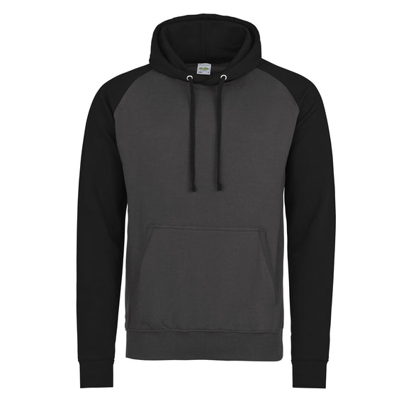 Baseball Hoodie - Charcoal / Jet Black - Equipment Zone Online Store