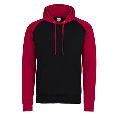 Baseball Hoodie - Jet Black / Fire Red - Equipment Zone Online Store