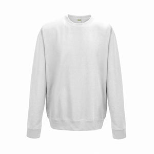 College Crew Neck Sweatshirt - Arctic White