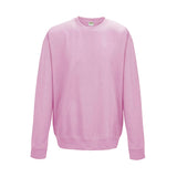 College Crew Neck Sweatshirt - Baby Pink