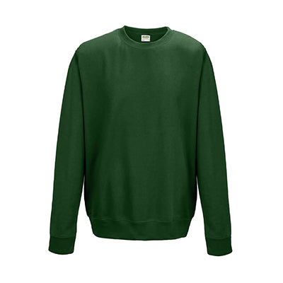 College Crew Neck Sweatshirt - Bottle Green