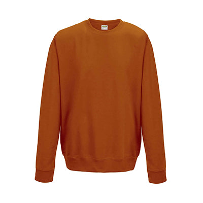 College Crew Neck Sweatshirt - Burnt Orange - Equipment Zone Online Store