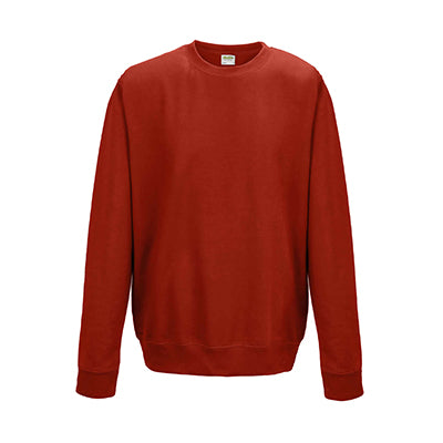 College Crew Neck Sweatshirt - Fire Red