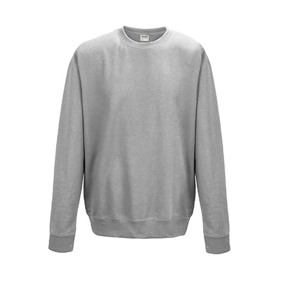 College Crew Neck Sweatshirt - Heather Grey