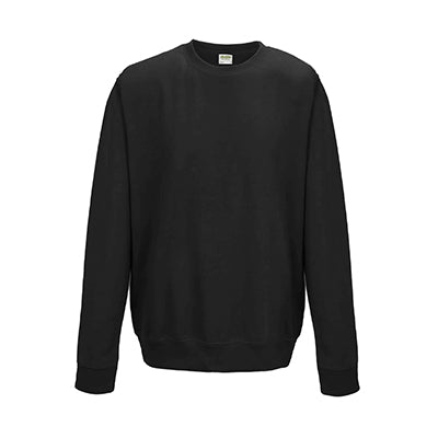 College Crew Neck Sweatshirt - Jet Black