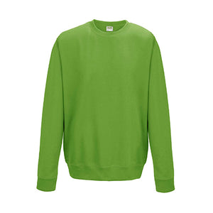 College Crew Neck Sweatshirt - Lime Green