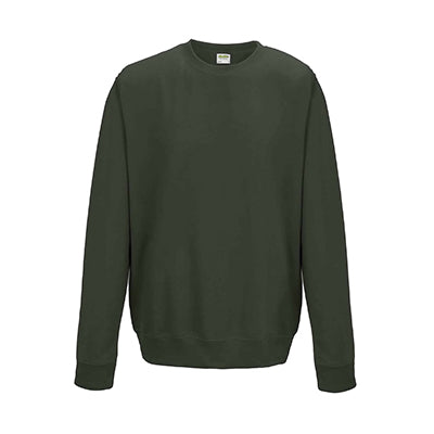 College Crew Neck Sweatshirt - Olive Green - Equipment Zone Online Store