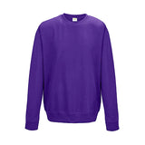 College Crew Neck Sweatshirt - Purple