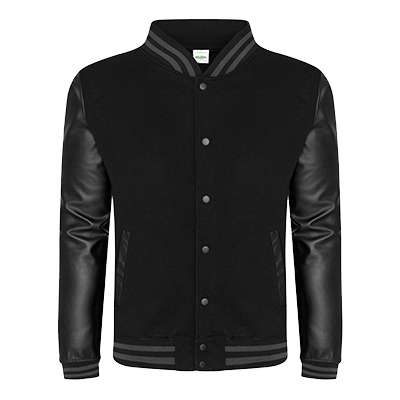 Urban Letterman Jacket - Black/Black