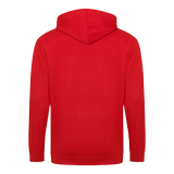 Zippered Hoodie - Fire Red