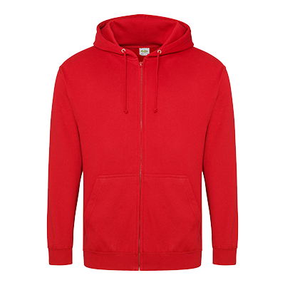 Zippered Hoodie - Fire Red - Equipment Zone Online Store