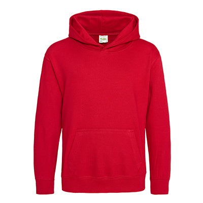 Youth College Hoodie - Fire Red