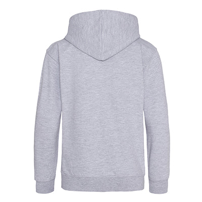 Youth College Hoodie - Heather Grey