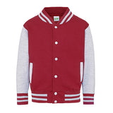 Youth Letterman - Fire Red/Heather Grey - Equipment Zone Online Store