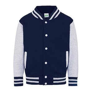 Youth Letterman - Oxford Navy/Heather Grey