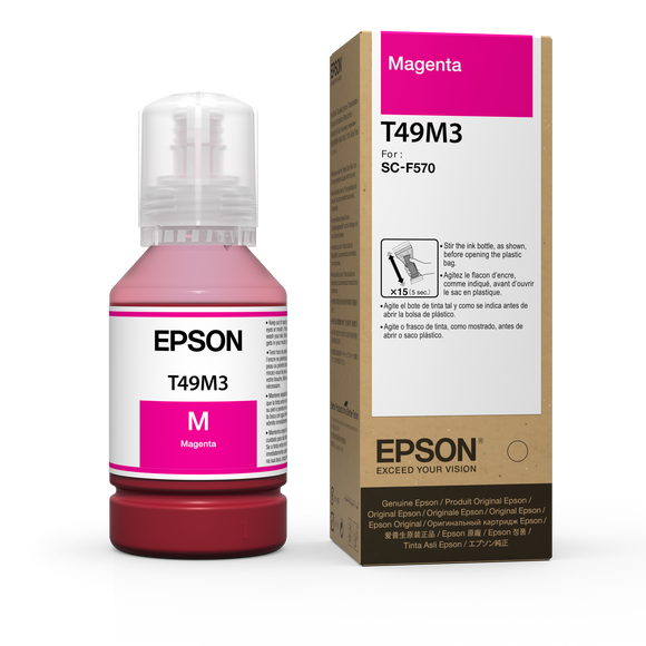 Magenta Epson Dye-Sublimation Ink for F570 printer - 142mL - Equipment Zone Online Store