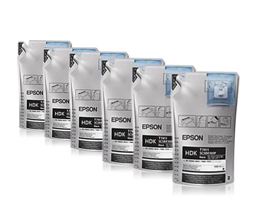 Epson UltraChrome DS Sublimation Ink Bags - HD Black-6 Pack - Equipment Zone Online Store