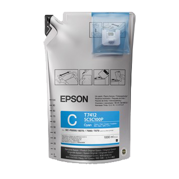 Epson UltraChrome DS Sublimation Ink Bag - Cyan 1 Liter - Equipment Zone