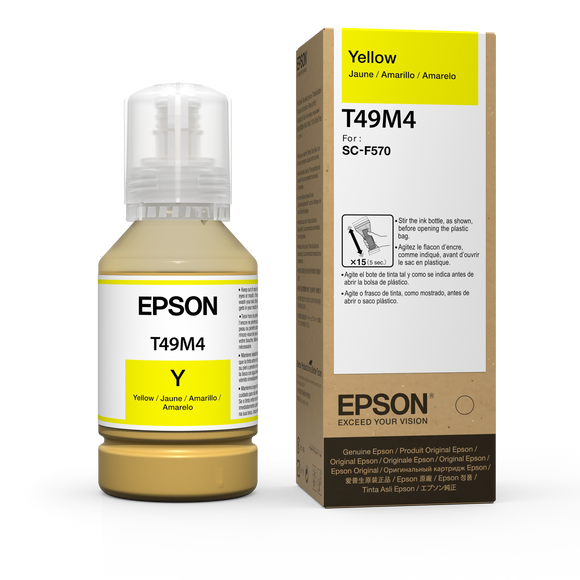 Yellow Epson Dye-Sublimation Ink for F570 printer - 142mL - Equipment Zone Online Store