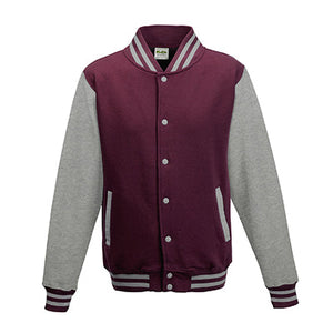 Adult letterman - Burgundy/Heather Grey - Equipment Zone Online Store