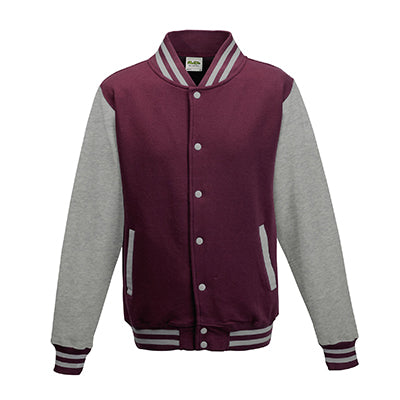 Adult letterman - Burgundy/Heather Grey