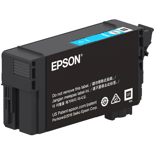 Epson T40W, 50ml Cyan Ink Cartridge, High Capacity - Equipment Zone Online Store