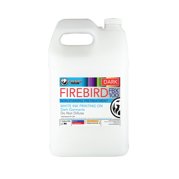 Firebird FBX - 100 Dark Pretreatment for Epson F2100/F2000 Series printers. 1 Gallon Jug.