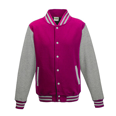 Adult Letterman - Hot Pink/Heather Grey - Equipment Zone Online Store