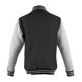 Adult Letterman - Jet Black/Heather Grey - Equipment Zone Online Store