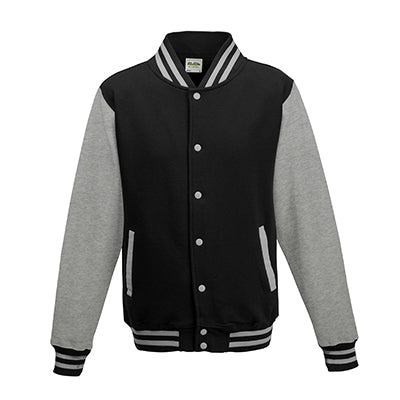 Adult Letterman - Jet Black/Heather Grey