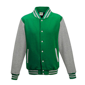 Adult Letterman - Kelly Green/Heather Grey - Equipment Zone Online Store