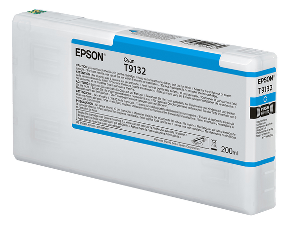Epson UltraChrome HDX Cyan Ink Cartridge - 200ML - Equipment Zone Online Store