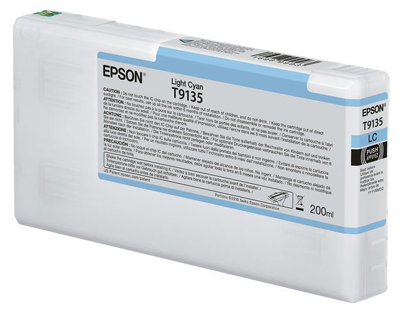 Epson UltraChrome HDX Light Cyan Ink Cartridge - 200ML - Equipment Zone Online Store