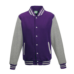 Adult Letterman - Purple/Heather Grey - Equipment Zone Online Store