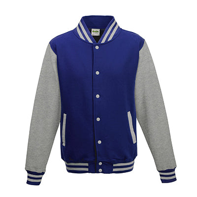 Adult Letterman - Royal Blue/Heather Grey