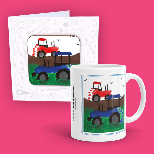 The 'A' List - Mug and Coaster Card