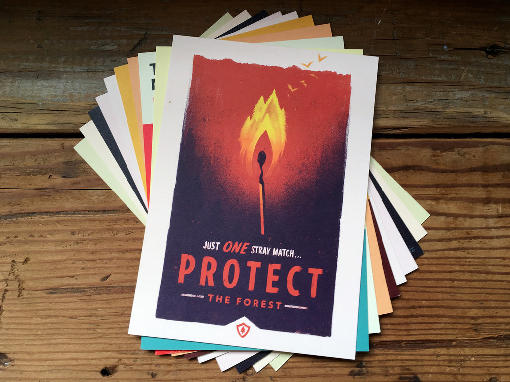 Firewatch Mini Art Print Pack