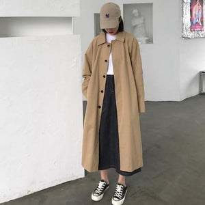New Elegant Long Trench Coat