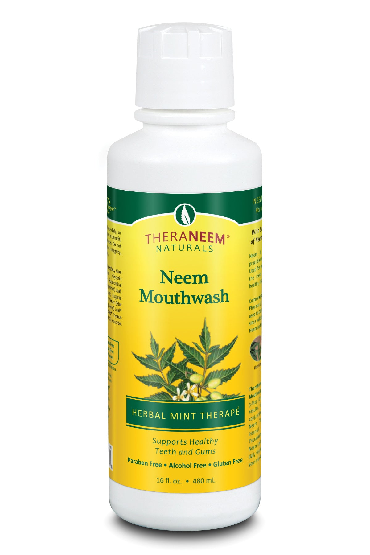 Neem Mouthwash Herbal Mint - 16 ounces