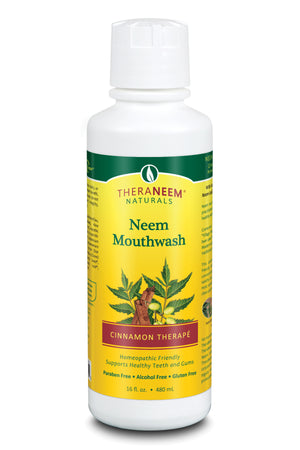 Neem Mouthwash Cinnamon - 16 ounces