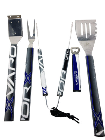 5 piece BBQ Set  BBQ Set - Requip'd formerly Hat Trick BBQ - Made from hockey sticks and hockey gear - perfect gifts for hockey fans