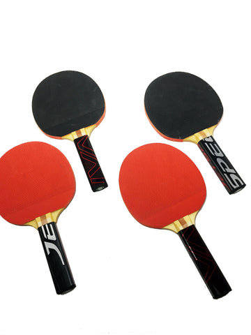 Ping Pong Paddles (2 - Pack)  Ping Pong Paddles - Requip'd formerly Hat Trick BBQ - Made from hockey sticks and hockey gear - perfect gifts for hockey fans