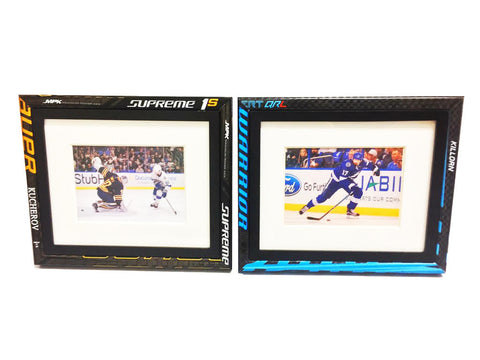 Hockey Stick Picture Frame  Picture Frame - Requip'd formerly Hat Trick BBQ - Made from hockey sticks and hockey gear - perfect gifts for hockey fans
