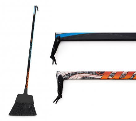 Hockey Stick Broom  Brooms - Requip'd formerly Hat Trick BBQ - Made from hockey sticks and hockey gear - perfect gifts for hockey fans