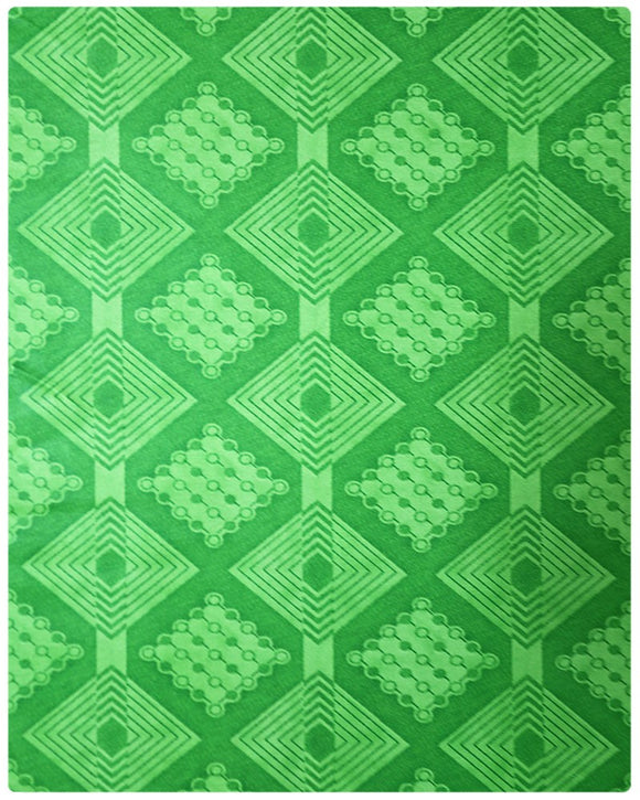 BRO001 - Printed Brocade - Lemon Green ( 5 Yards)
