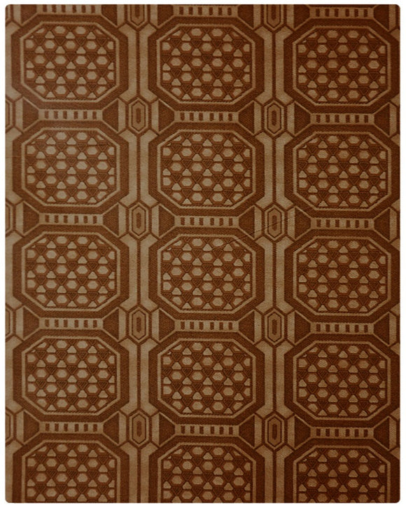 BRO002 - Printed Brocade - Bronze ( 5 Yards)