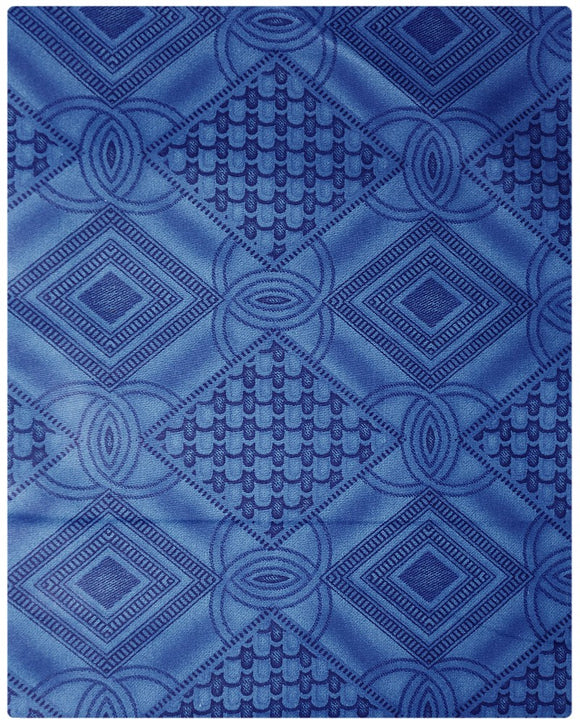 BRO006 - Printed Brocade - Blue ( 5 Yards)